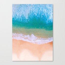 Ariel Beach Scene Canvas Print