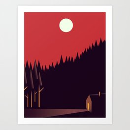 A Cabin in the Wood Art Print