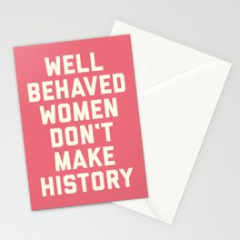 Well Behaved Women Feminist Quote Stationery Cards