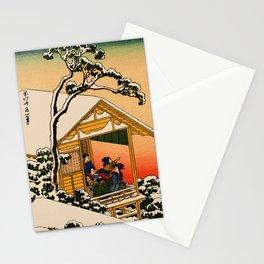 Snow at Koishikawa - Vintage Japanese Art Stationery Cards