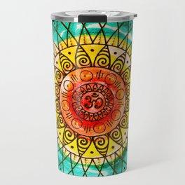 OM - Chakra Mandala - Rainbow - Charm Travel Mug