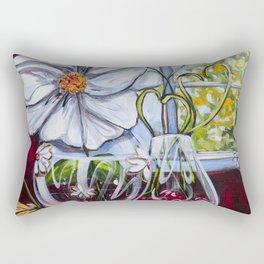 Diane L-  Fleurs en coeurs Rectangular Pillow