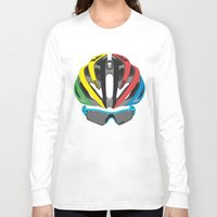cycling Long Sleeve T-shirts featuring Cycling Face by Pedlin