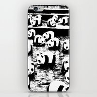 animal crew iPhone & iPod Skins featuring Crew by Panda Cool