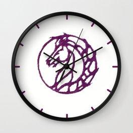 Purple Horse Circle Wall Clock