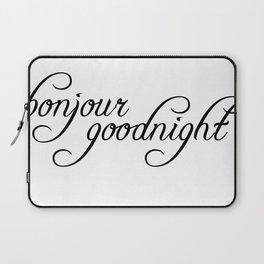 bonjour goodnight Laptop Sleeve