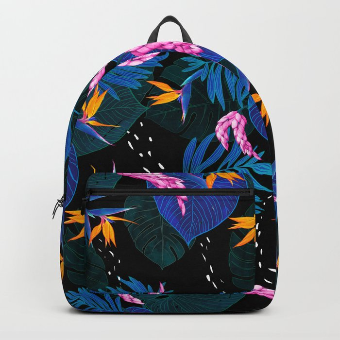 tropical // night in the garden Backpack