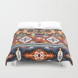 Fancy abstract geometric vector pattern in tribal style.cdr Duvet Cover