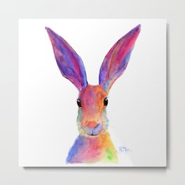 HaRe RaBBiT BuNNY PRiNT ' JeLLY BeaN ' BY SHiRLeY MacARTHuR Metal Print