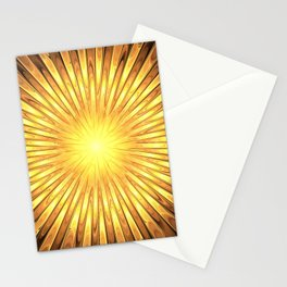 Rays of GOLD SUN abstracts Stationery Cards