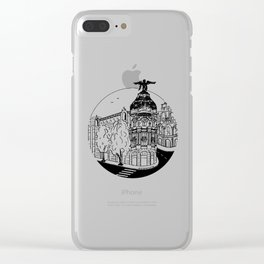 Memories of Madrid Clear iPhone Case