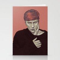 kieren walker Stationery Cards featuring Kieren Walker by Sudjino