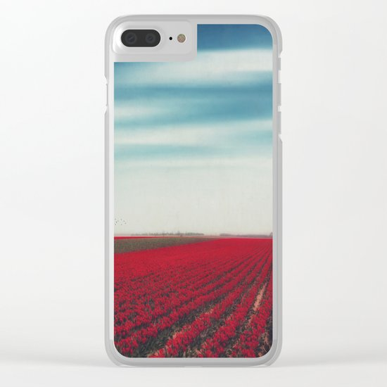 10000001 Tulips Clear iPhone Case