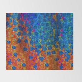 Burning Textile Drops Throw Blanket