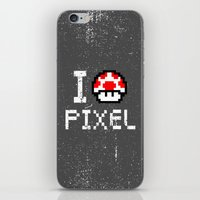 pixel iPhone & iPod Skins featuring Pixel by eARTh
