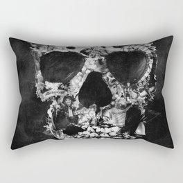 Vintage Skull BW Rectangular Pillow