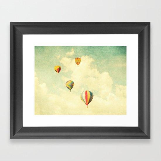 Drifting Balloons Framed Art Print