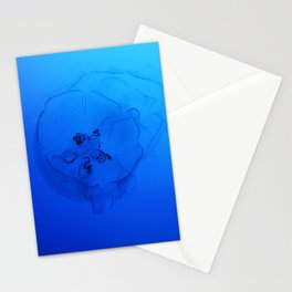 A Sea Nettle in the Deep Ocean Stationery Cards