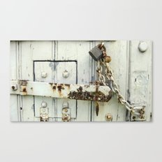 Old Jail Latch Canvas Print