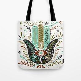 Hamsa Hand – Earth Palette Tote Bag