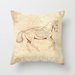 Da Vinci Horse: Canter Throw Pillow