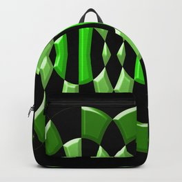 The Green Thang - Abstract Green and Black Retro Design Backpack