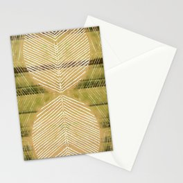Yellow Batik Fall Leaf Minimalist Stationery Cards