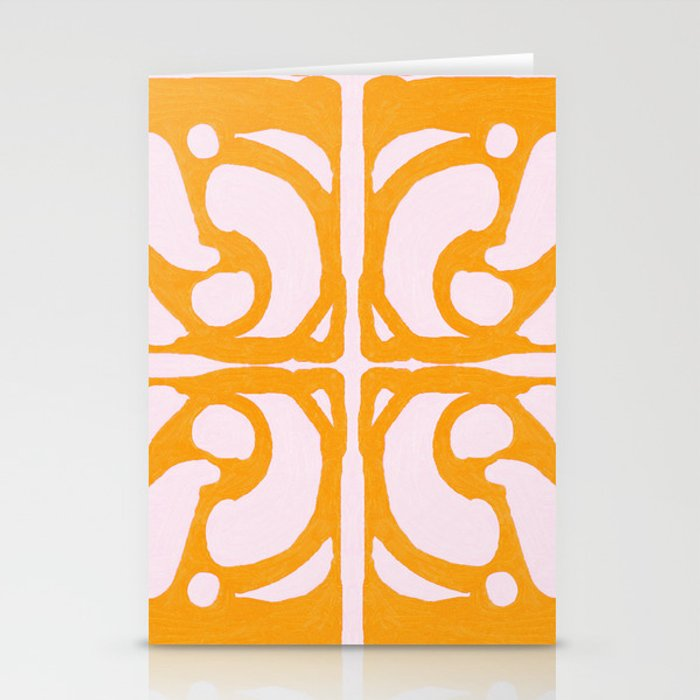 Abstract in Yellow and Cream Stationery Cards