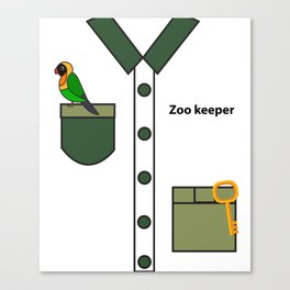 Zookeeper Halloween Costume For Boys And Men Gifts Canvas Print