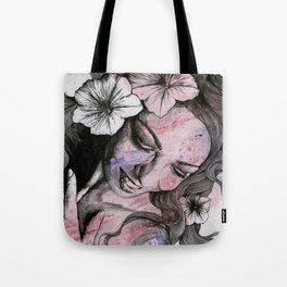 In The Year Of Our Lord (smiling flower lady portrait) Tote Bag