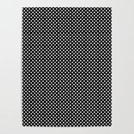 Polka Dots (White/Black) Poster