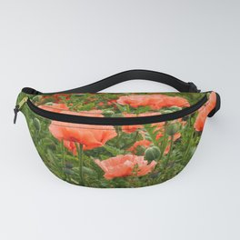 Poppies in a Summer Garden Fanny Pack