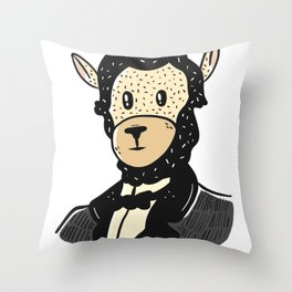 Lincoln Llama Throw Pillow