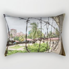 S21 Building C View - Khmer Rouge, Cambodia Rectangular Pillow