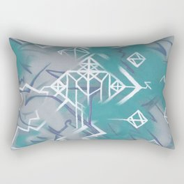 Weißklang - Abstract Painting on Acryl Rectangular Pillow