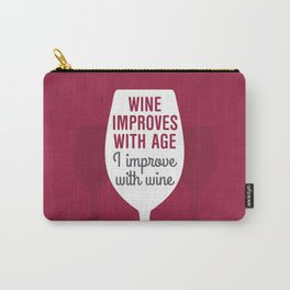 Wine Improves With Age Carry-All Pouch