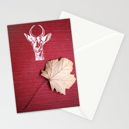 The red book, the dry leaf and the goat head Stationery Cards
