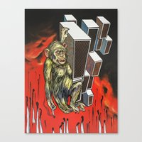 ape Canvas Prints featuring Ape by VikaValter