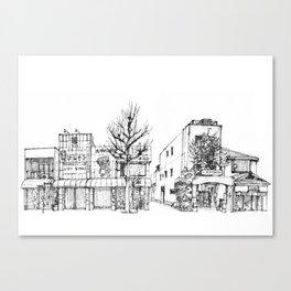 Urban space - Row of shops #1 Canvas Print