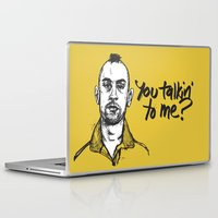 taxi driver Laptop & iPad Skins featuring Taxi Driver by Dave Flanagan