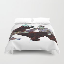 Red Energy aikido Duvet Cover