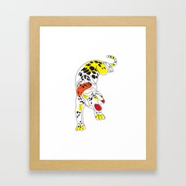 Angry Jaguar Cat Framed Art Print