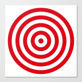 Red target on white background Canvas Print