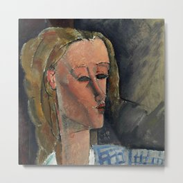 "Amedeo Modigliani ""Beatrice Hastings"", 1916 Metal Print"