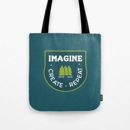 Imagine. Create. Repeat Tote Bag