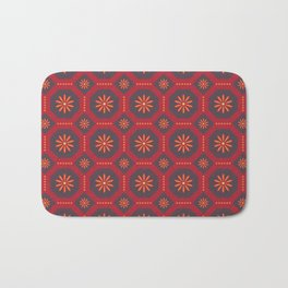 Sunset at Mosteiros Beach Azulejo Tile Pattern Bath Mat