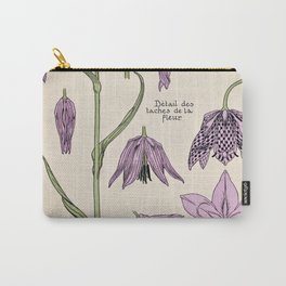 Maurice Verneuil - Fritillaire - botanical poster Carry-All Pouch