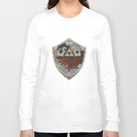 shield Long Sleeve T-shirts featuring Link's Shield by s2lart