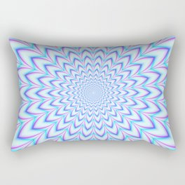 Crinkle Cut Pulse in Pale Blue and Pink Rectangular Pillow