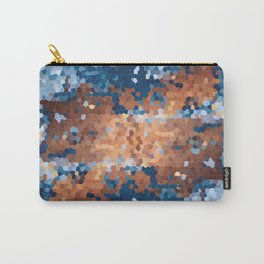 Copper and Denim Abstract Carry-All Pouch